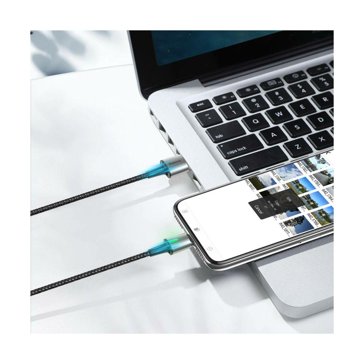 Baseus Univerzális kábel, Zinc mágneses USB véggel + töltőfej szett (Lightning/Type-C/Micro) 3A, 1m, fekete (TZCAXC-A01)