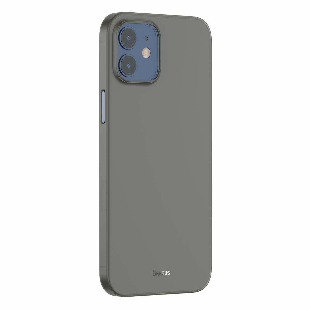 Baseus iPhone 12 mini tok, Wing, fekete (WIAPIPH54N-01)