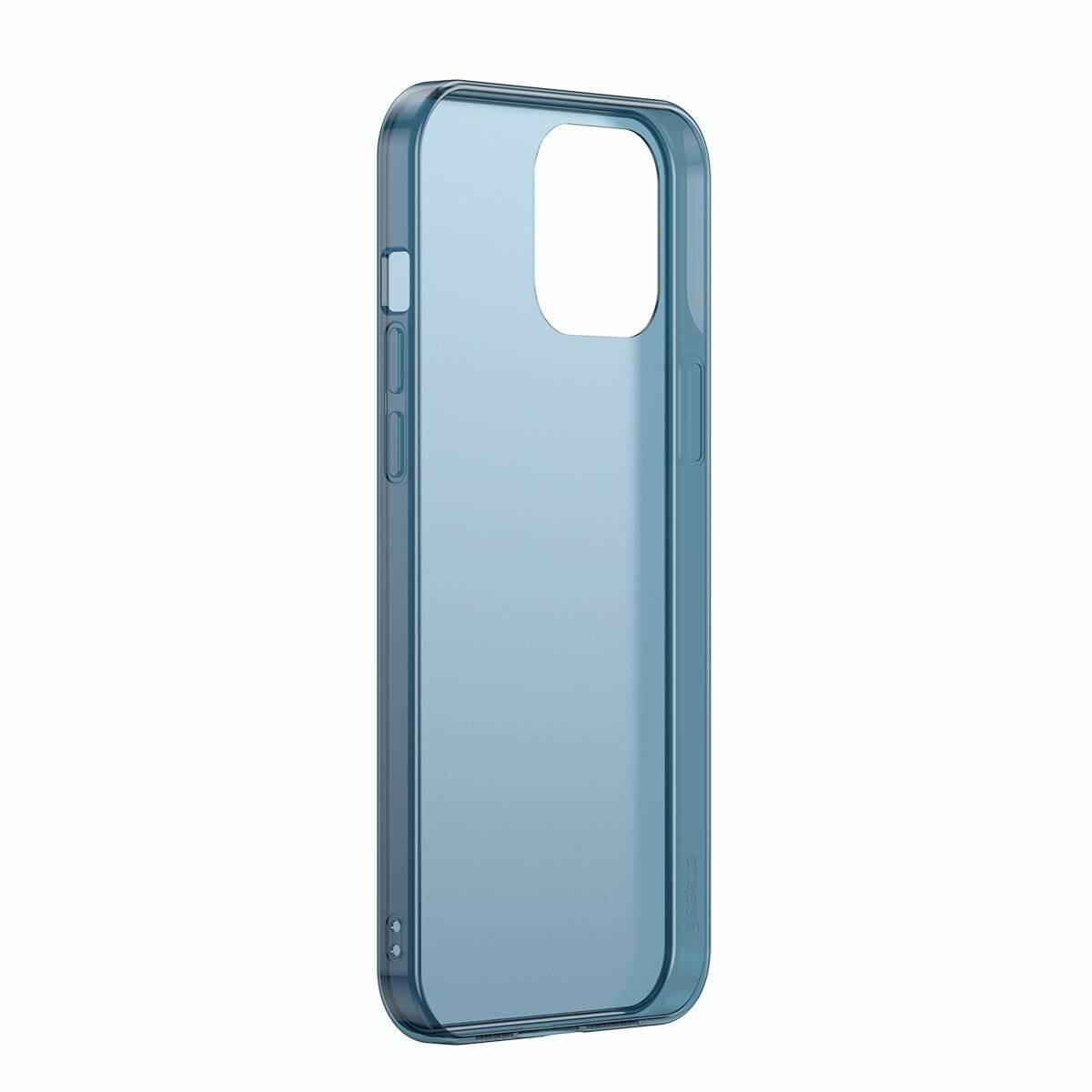 Baseus iPhone 12 mini tok, Frosted Glass, kék (WIAPIPH54N-WS03)