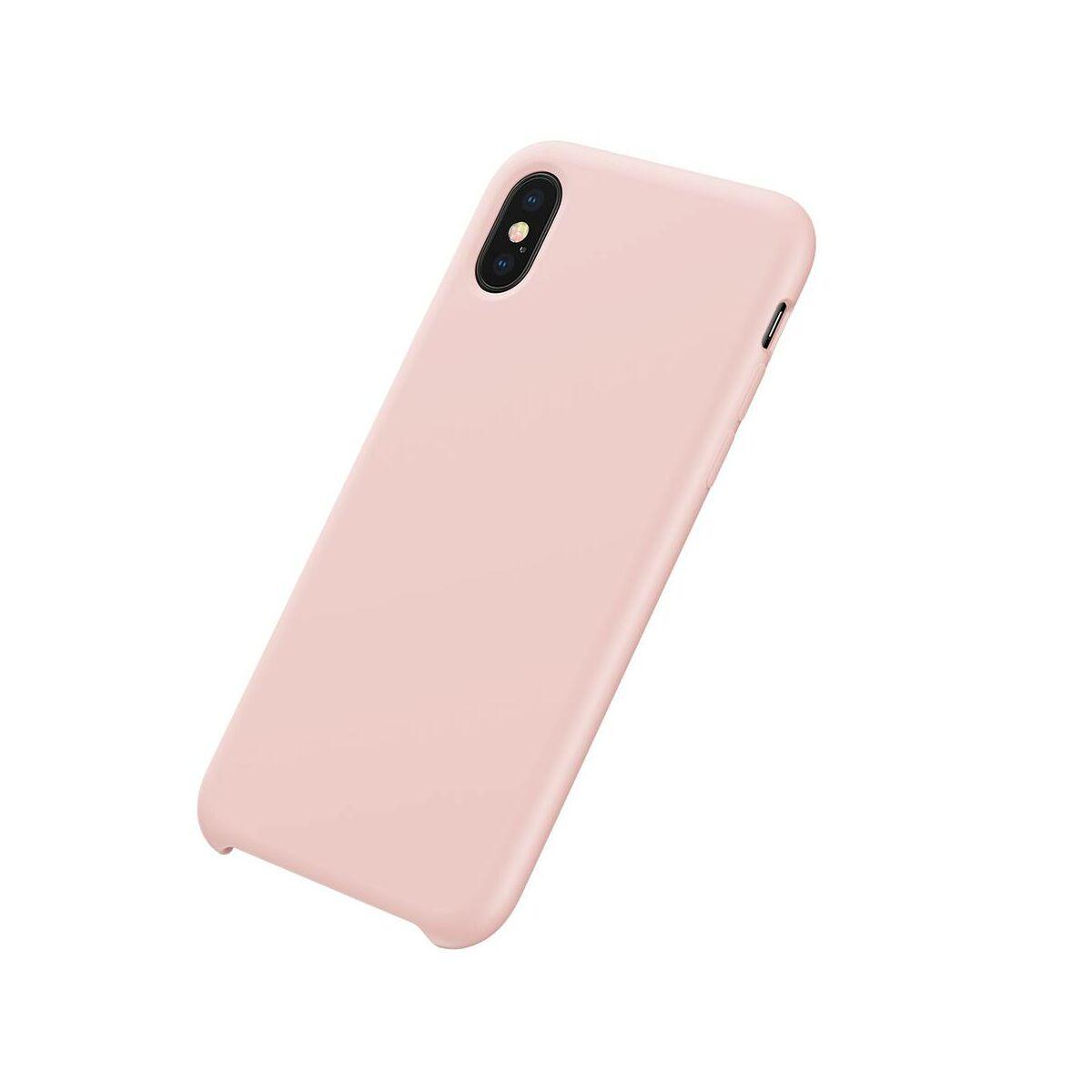 Baseus iPhone XS tok, Original LSR, rózsaszín (WIAPIPH58-ASL04)