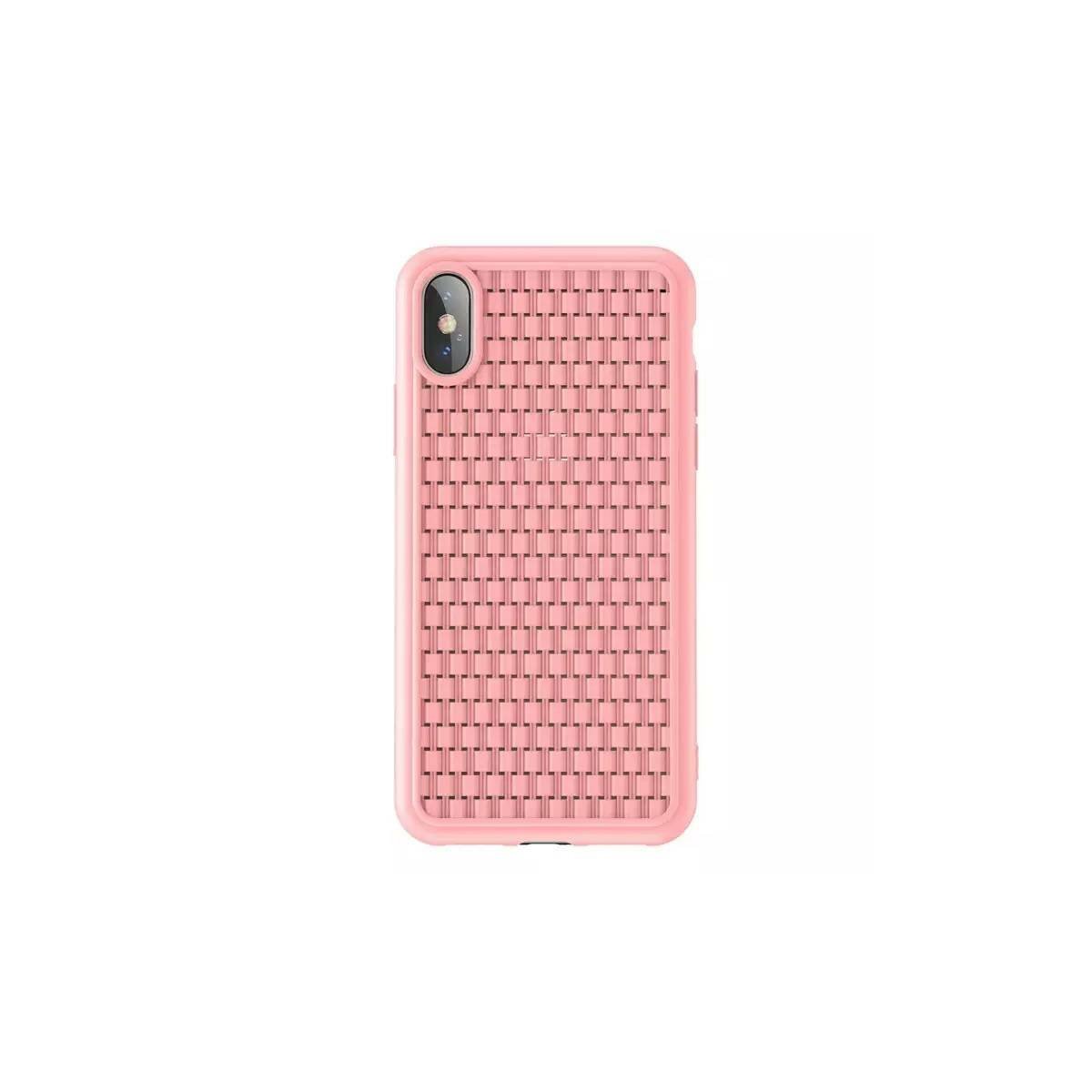 Baseus iPhone XS tok, BV, 2.generációs, rózsaszín (WIAPIPH58-BV04)