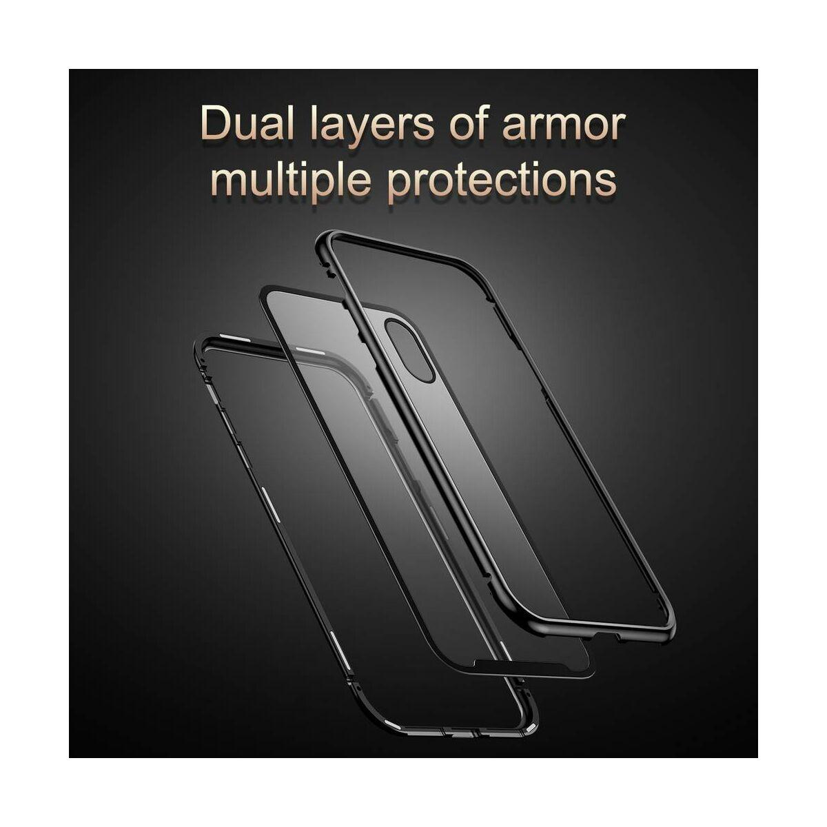 Baseus iPhone XS tok, Magnetite hardware, mágneses, ezüst (WIAPIPH58-CS0S)