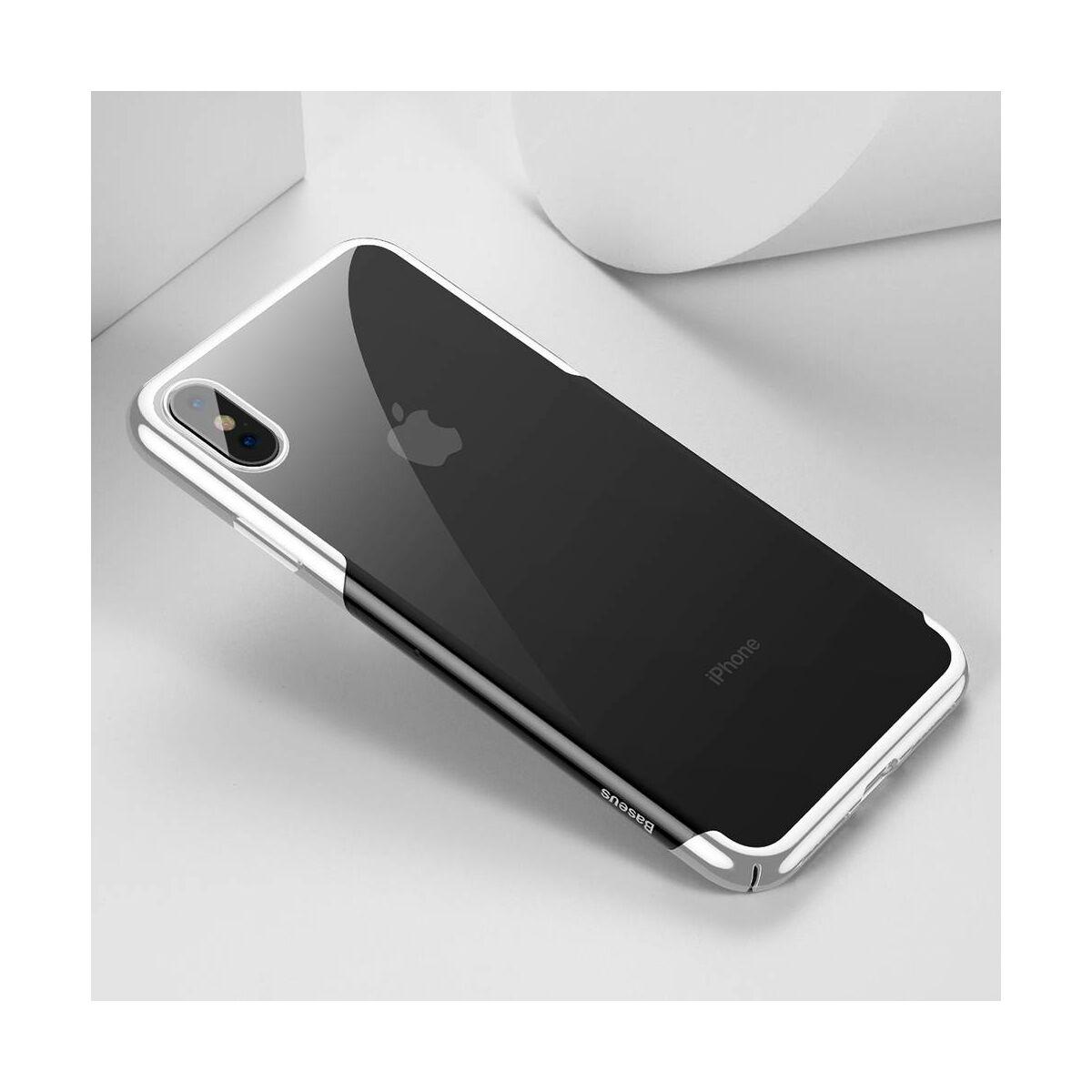 Baseus iPhone XS tok, Glitter, fehér (WIAPIPH58-DW02)