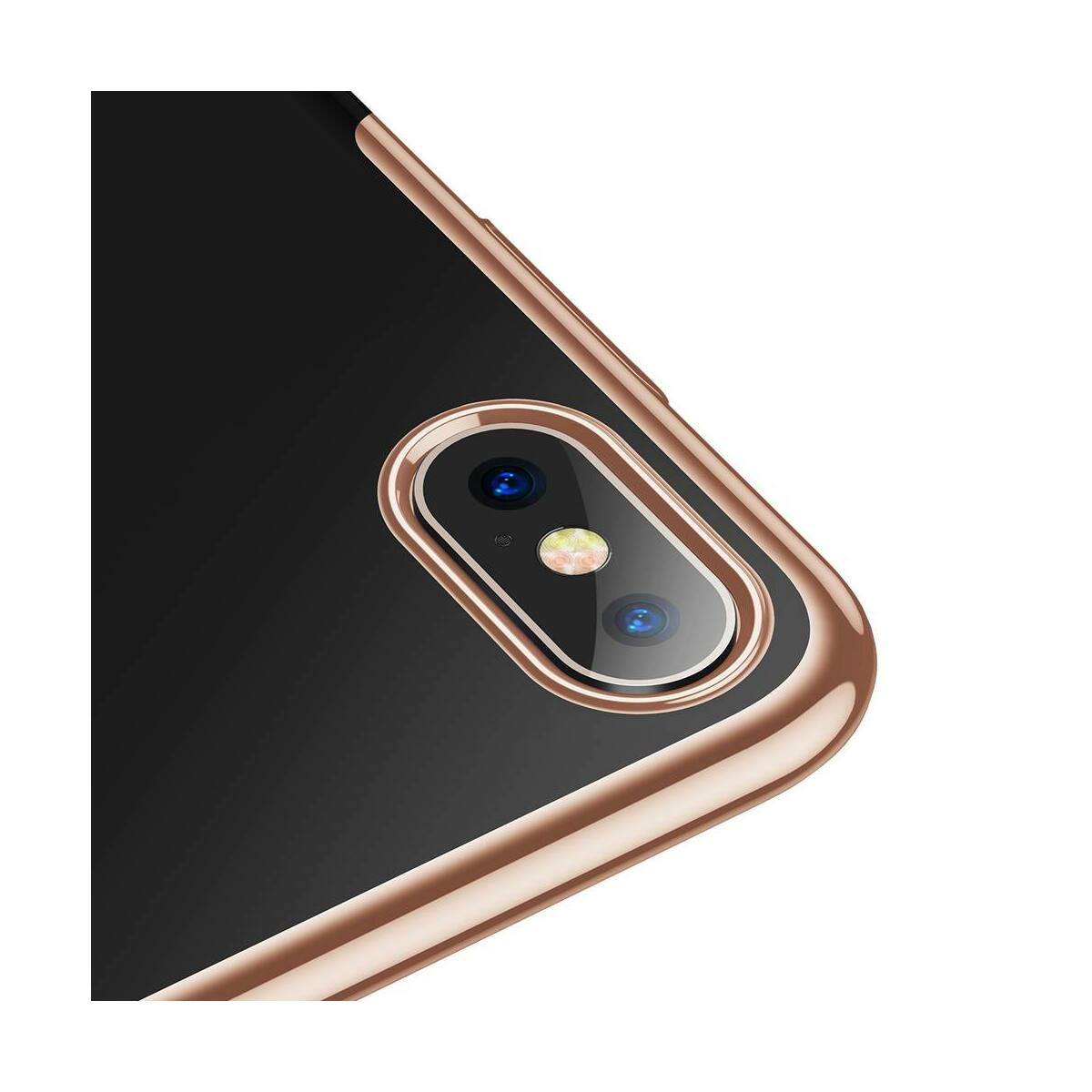 Baseus iPhone XS tok, Glitter, arany (WIAPIPH58-DW0V)