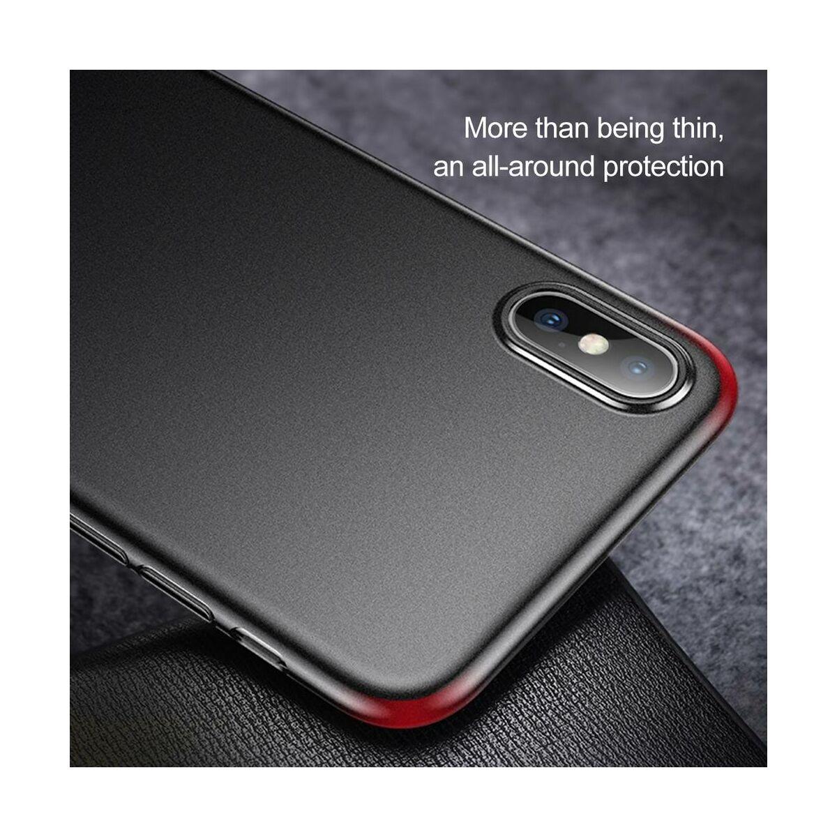 Baseus iPhone XS tok, Wing, átlátszó fekete (WIAPIPH58-E01)