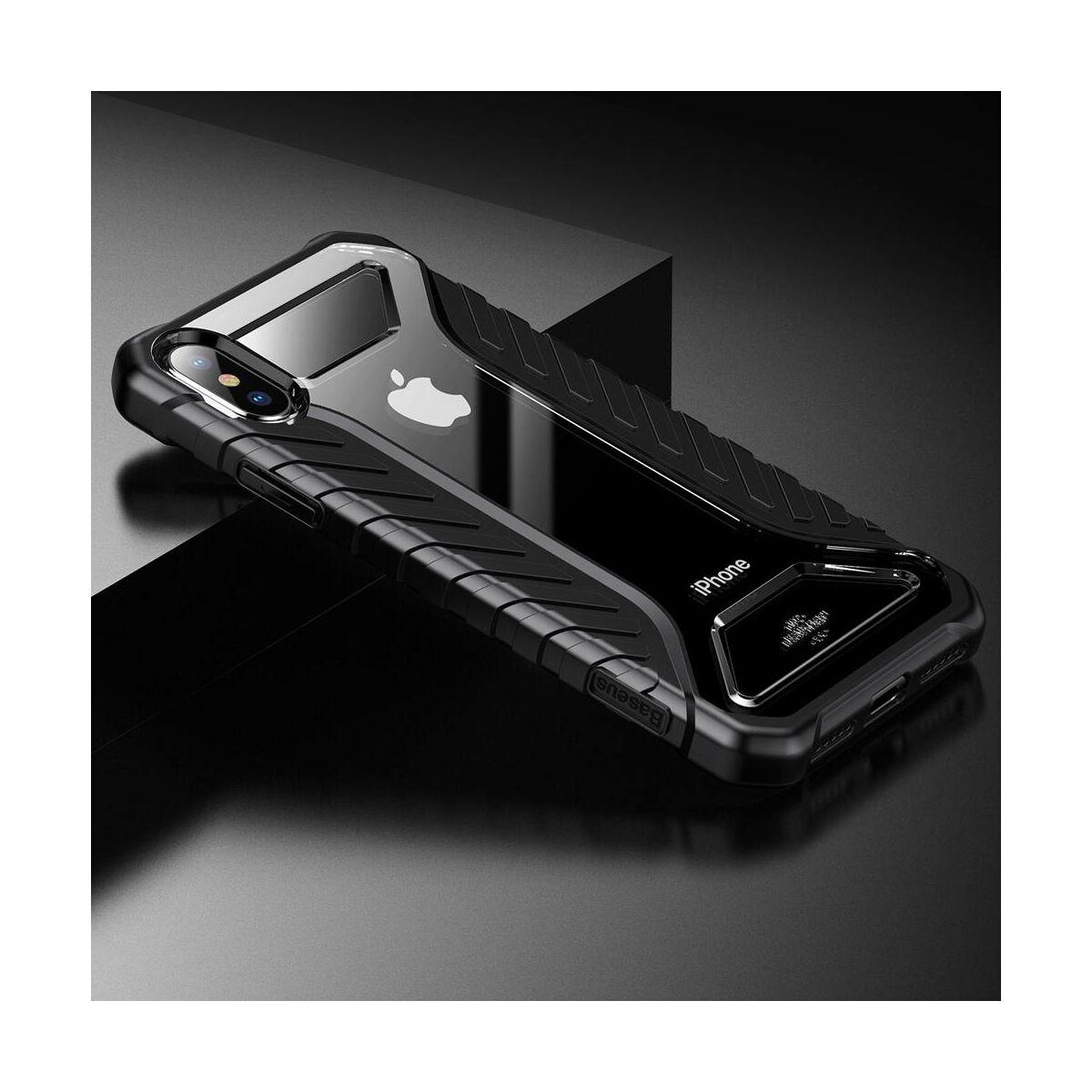 Baseus iPhone XS tok, Michelin, fekete (WIAPIPH58-MK01)