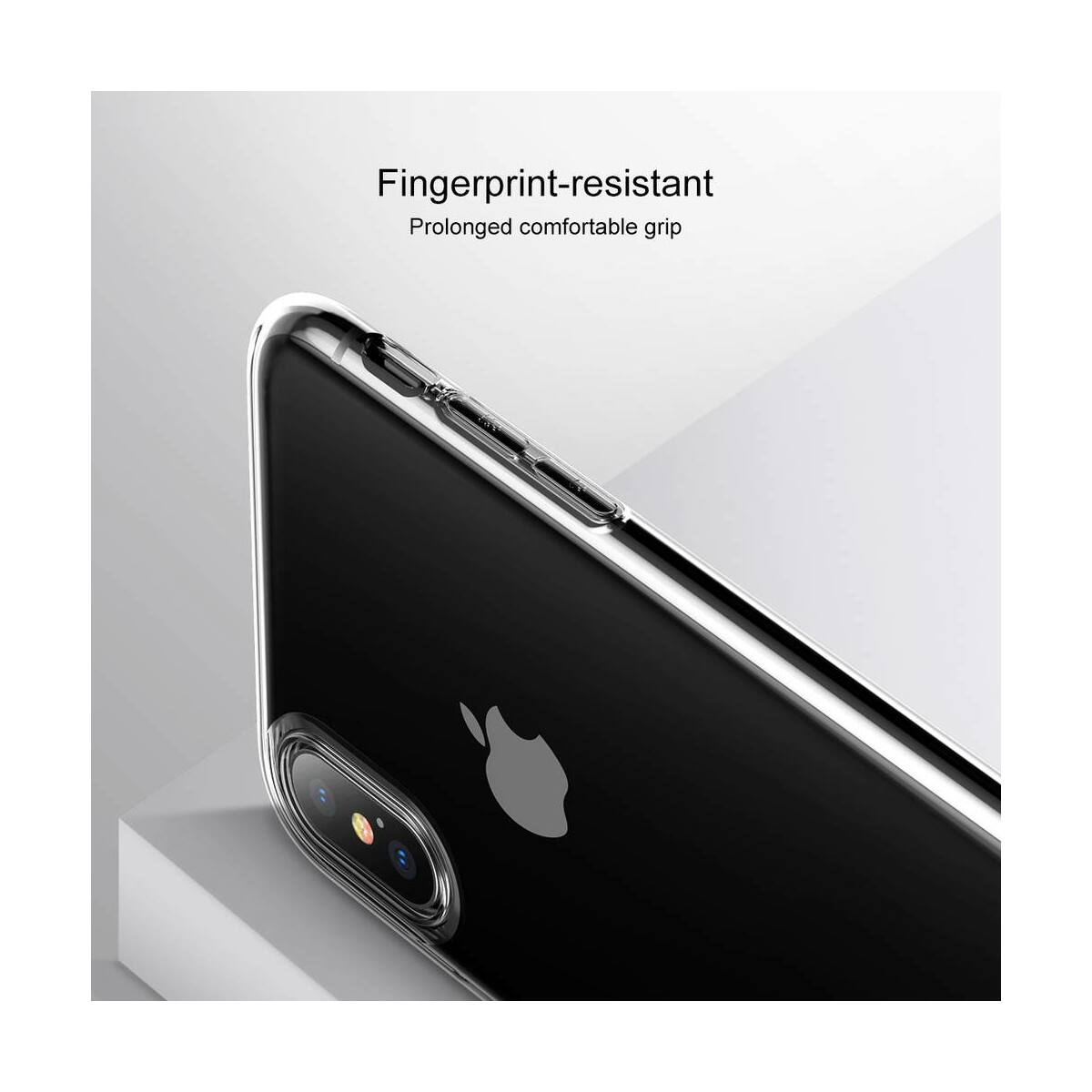 Baseus iPhone XS tok, Half to Half, piros (WIAPIPH58-RY09)
