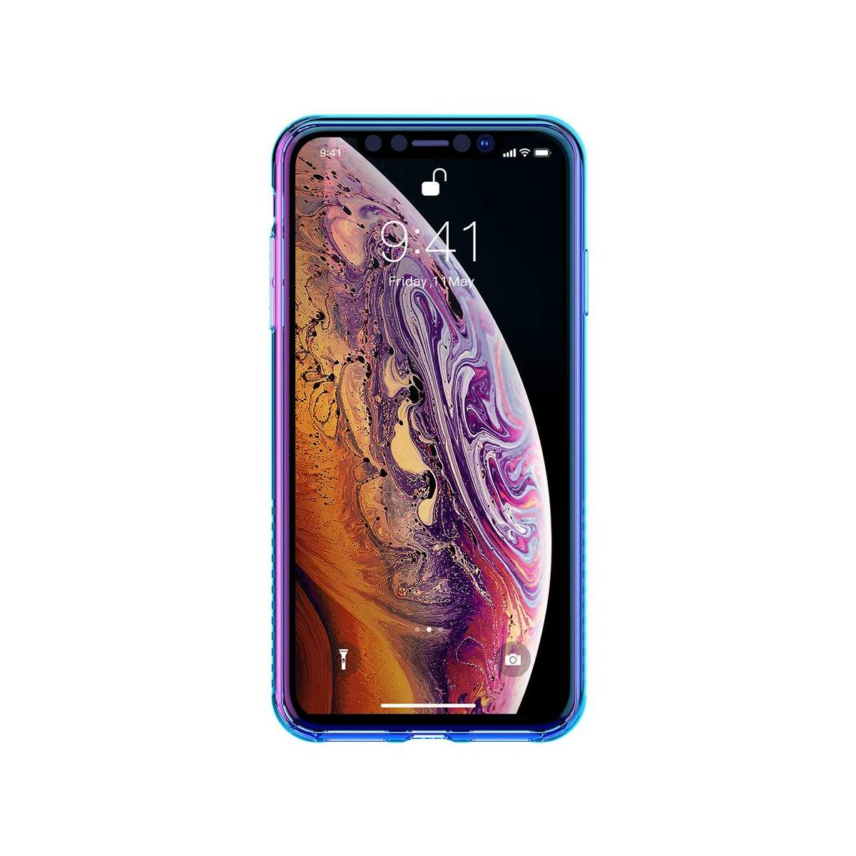 Baseus iPhone XS tok, Colorful Airbag, fekete (WIAPIPH58-XC01)