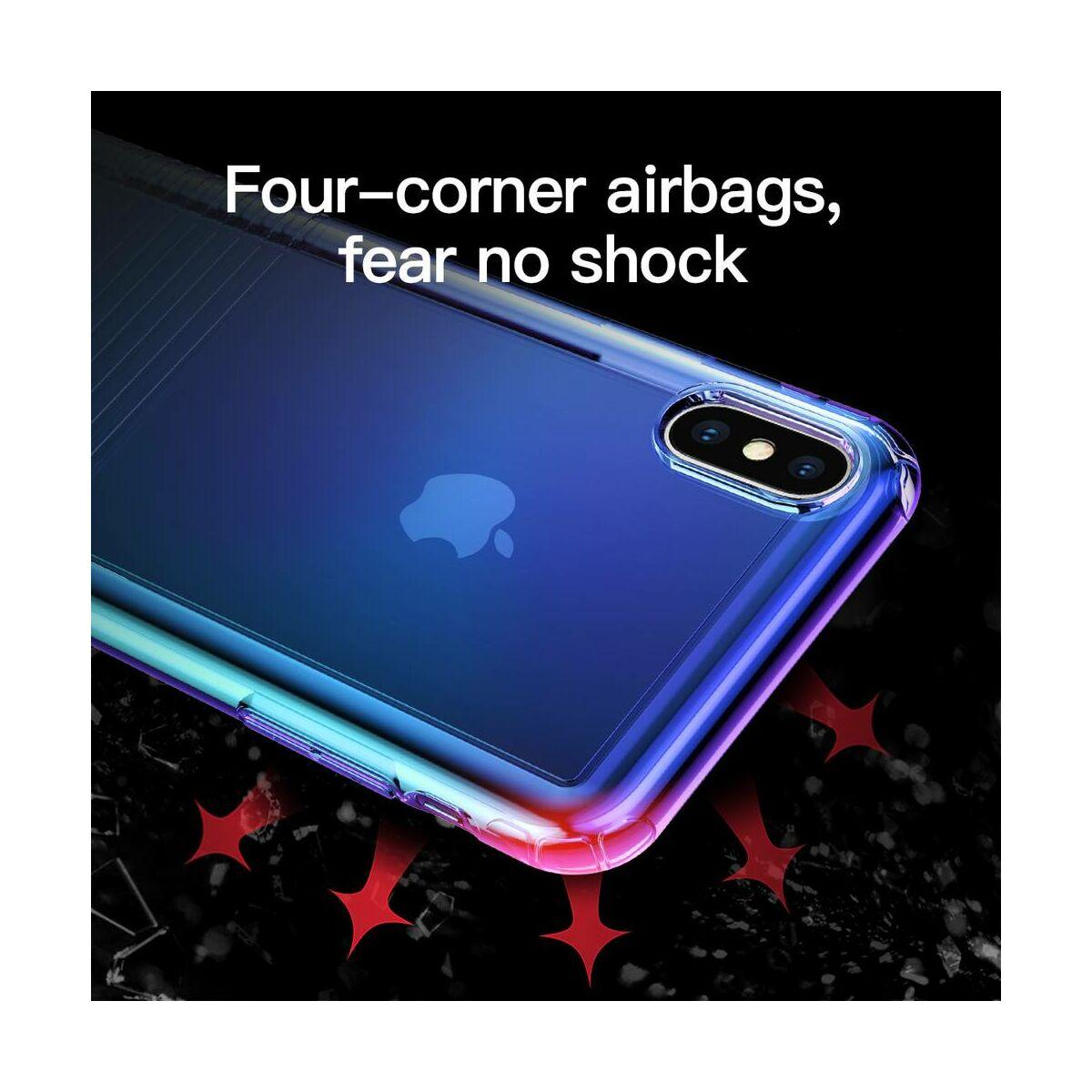 Baseus iPhone XS tok, Colorful Airbag, kék (WIAPIPH58-XC03)