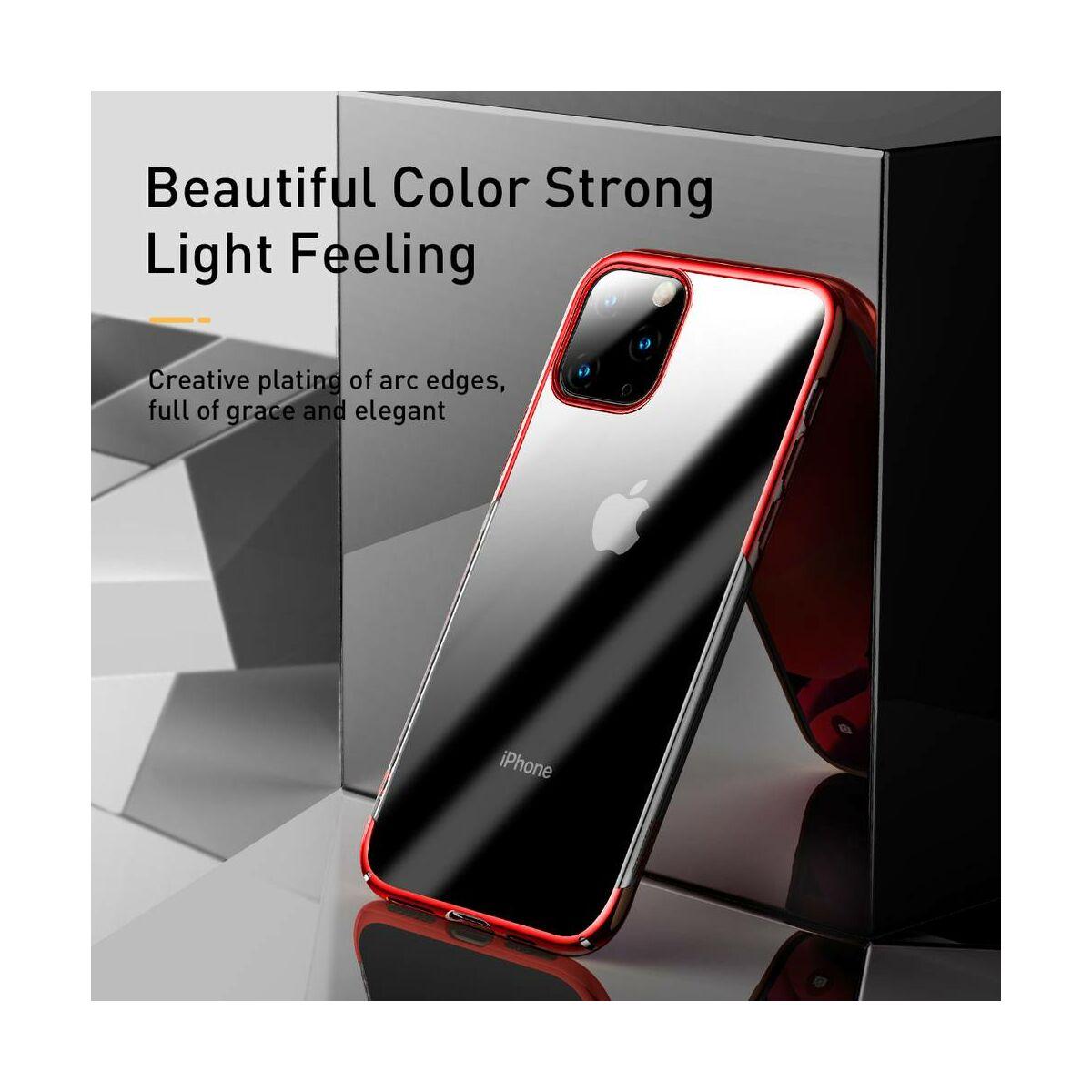 Baseus iPhone 11 Pro tok, Glitter, piros (WIAPIPH58S-DW09)