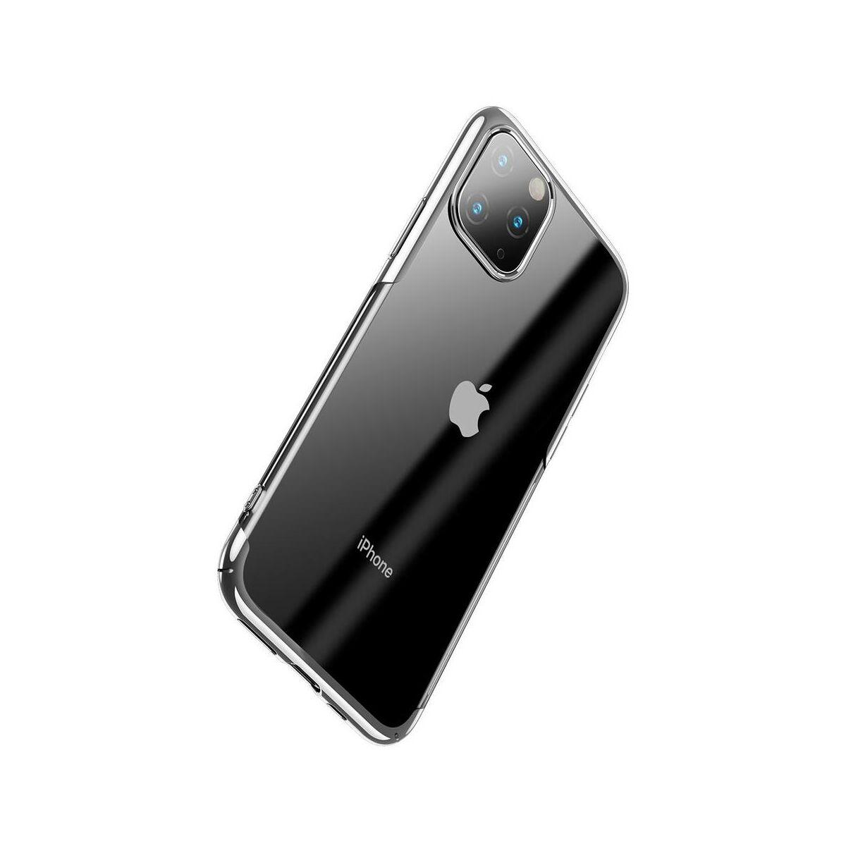 Baseus iPhone 11 Pro tok, Glitter, ezüst (WIAPIPH58S-DW0S)