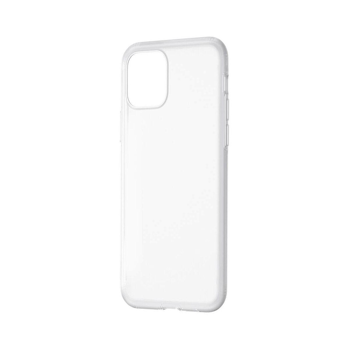 Baseus iPhone 11 Pro tok, Jelly Liquid Silica Gel Protective tok, átlátszó fehér (WIAPIPH58S-GD02