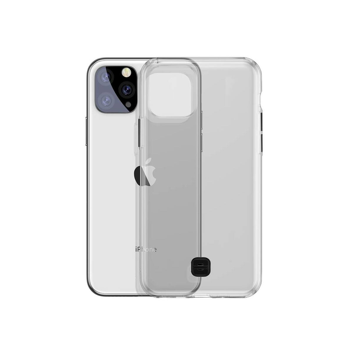 """Baseus iPhone 11 Pro (5.8"""") tok átlászszó Key Phone átlátszó fekete (WIAPIPH58S-QA01)"""