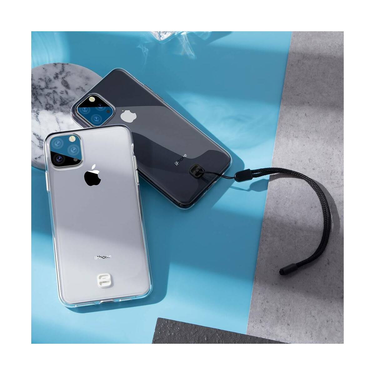 Baseus iPhone 11 Pro tok, átlátszó Key Phone, átlátszó (WIAPIPH58S-QA02)