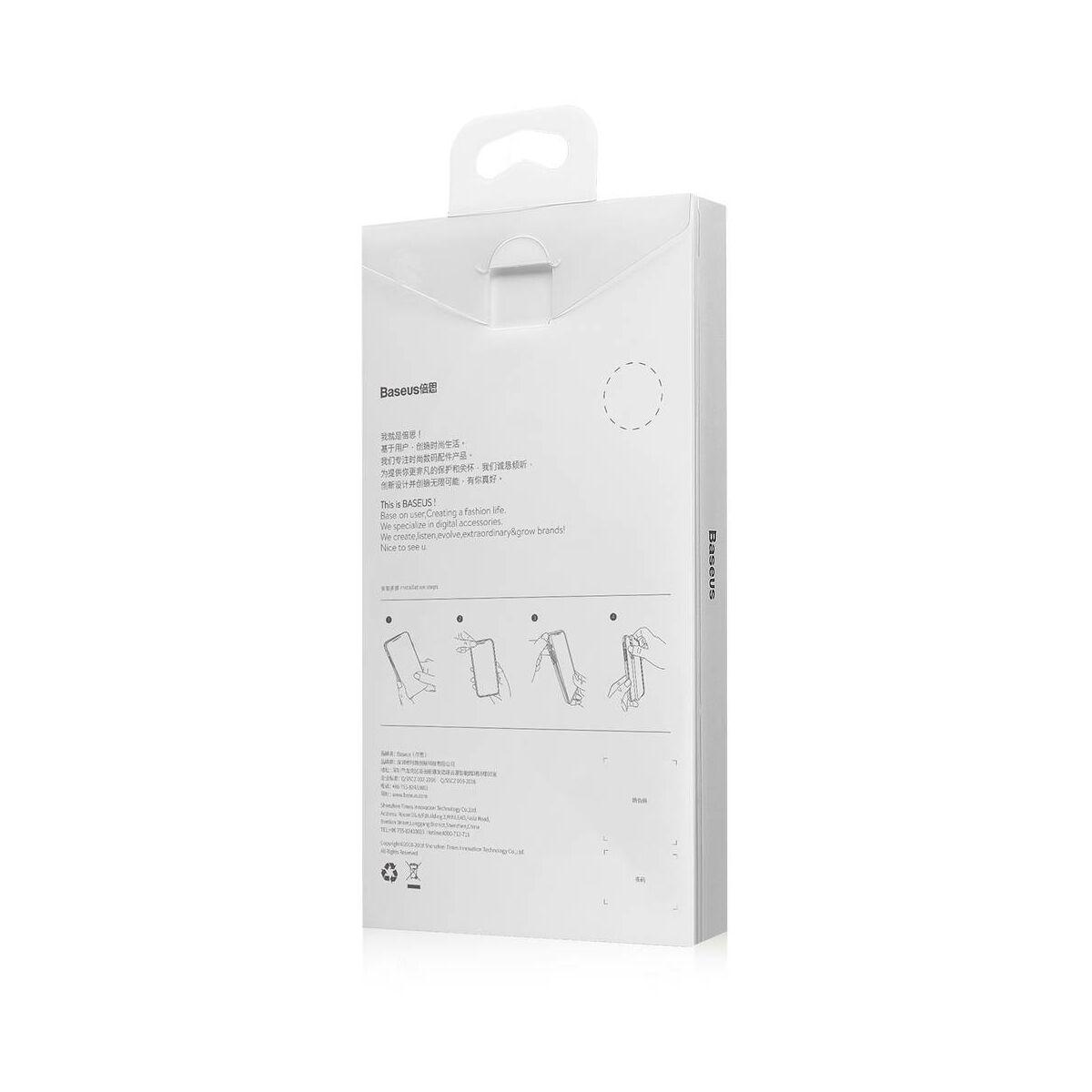 Baseus iPhone XR üveg & tok, BV Weaving, fekete (WIAPIPH61-BL01)