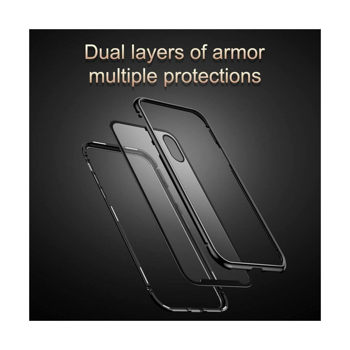 Baseus iPhone XR tok, Magnetite hardware, mágneses, ezüst (WIAPIPH61-CS0S)