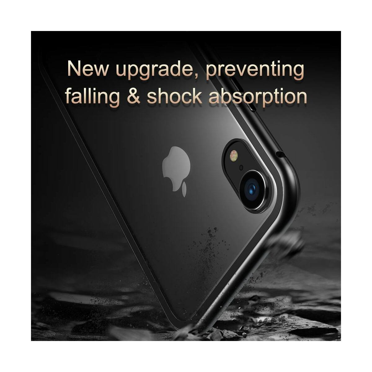 Baseus iPhone XR tok, Magnetite hardware, mágneses, arany (WIAPIPH61-CS0V)