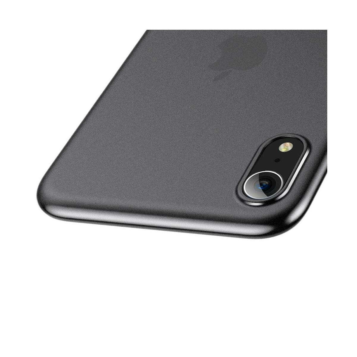 Baseus iPhone XR tok, Wing, átlátszó fekete (WIAPIPH61-E01)