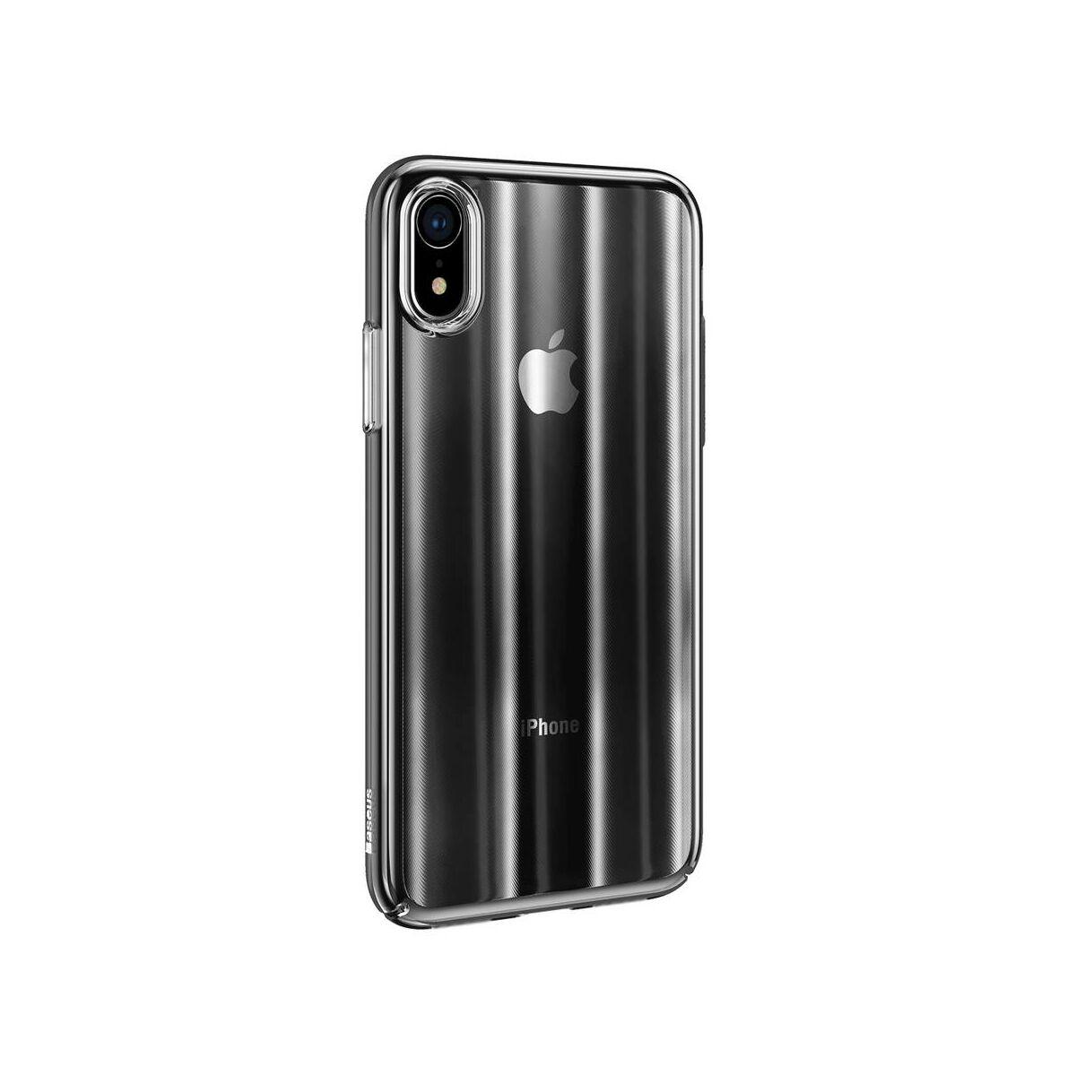 Baseus iPhone XR tok, Aurora, átlátszó fekete (WIAPIPH61-JG01)