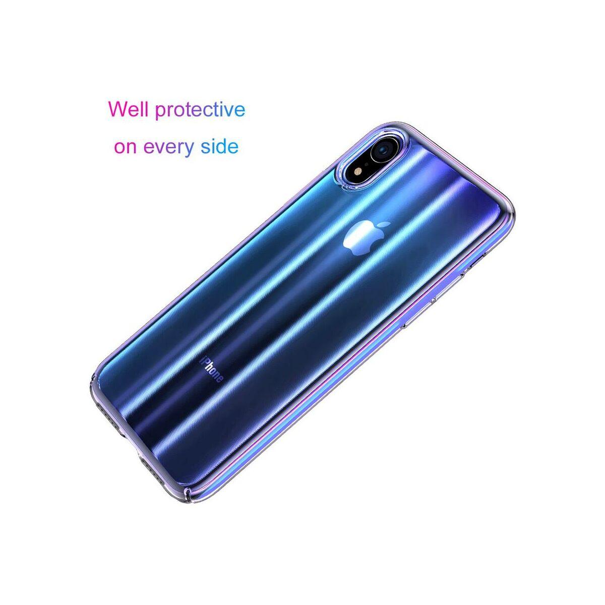 Baseus iPhone XR tok, Aurora, átlátszó kék (WIAPIPH61-JG03)