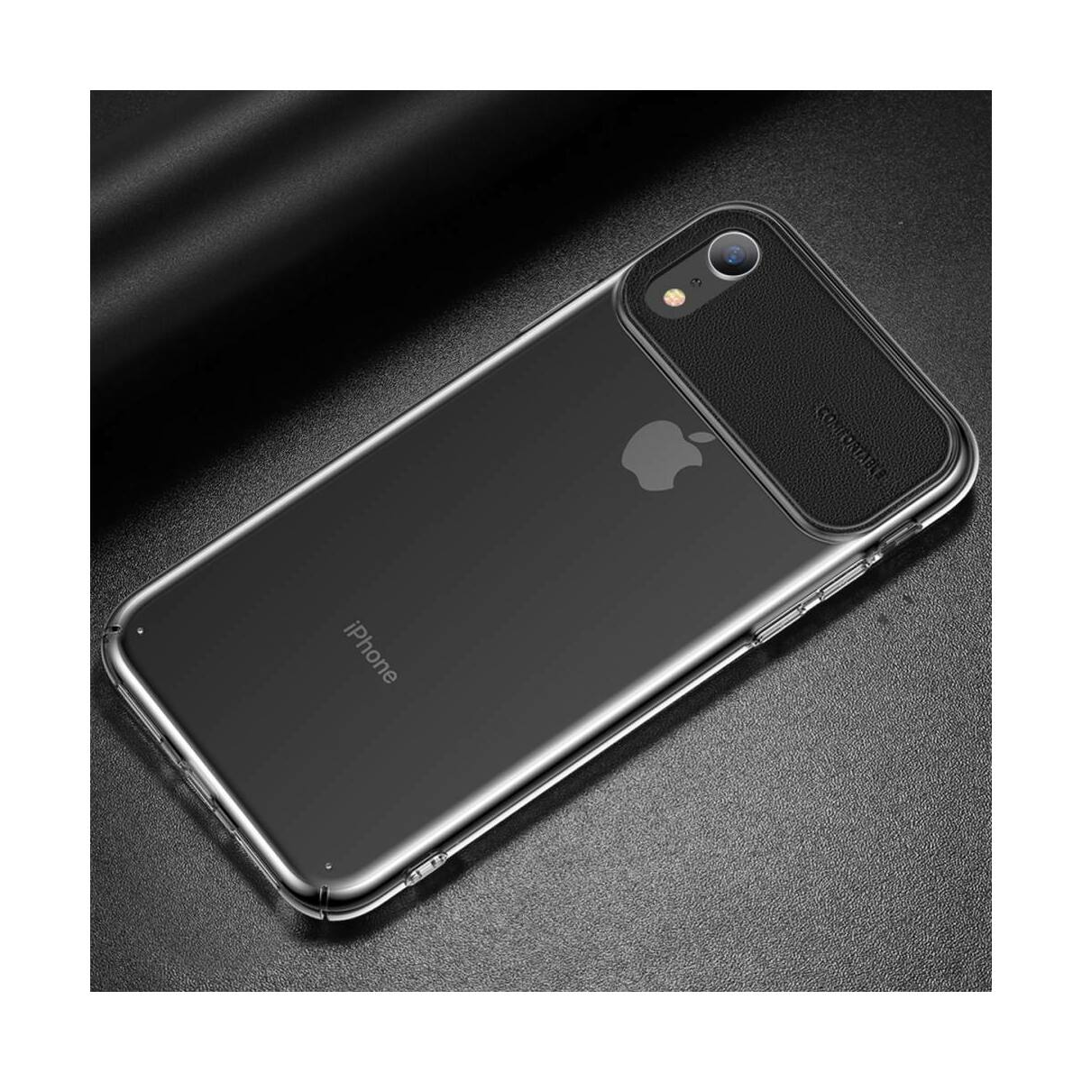 Baseus iPhone XR tok, Comfortable, fekete (WIAPIPH61-SS01)