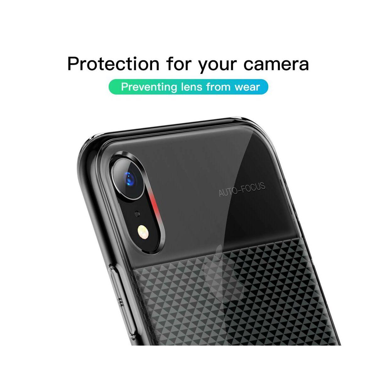 Baseus iPhone XR csillogó & tok, átlátszó, átlátszó fekete (WIAPIPH61-ST01)