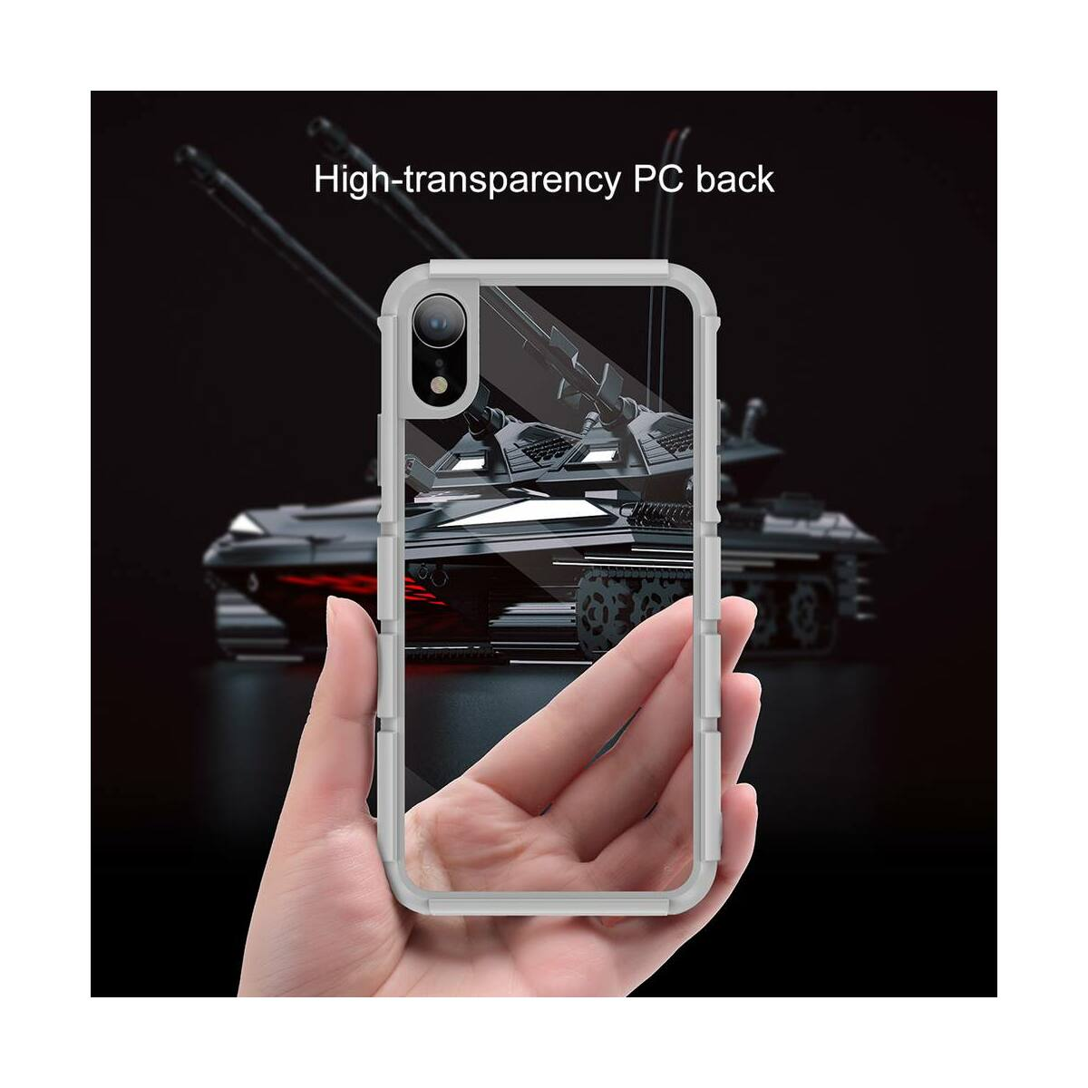 Baseus iPhone XR tok, Panzer, szürke (WIAPIPH61-TK0G)