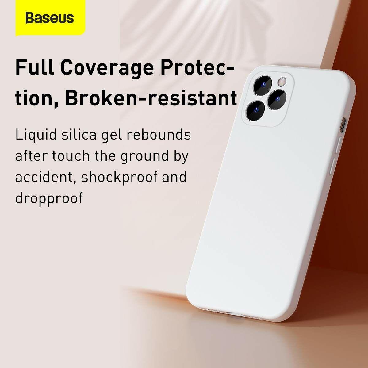 Baseus iPhone 12/12 Pro tok, Liquid Sicila Gel, fehér (WIAPIPH61N-YT02)