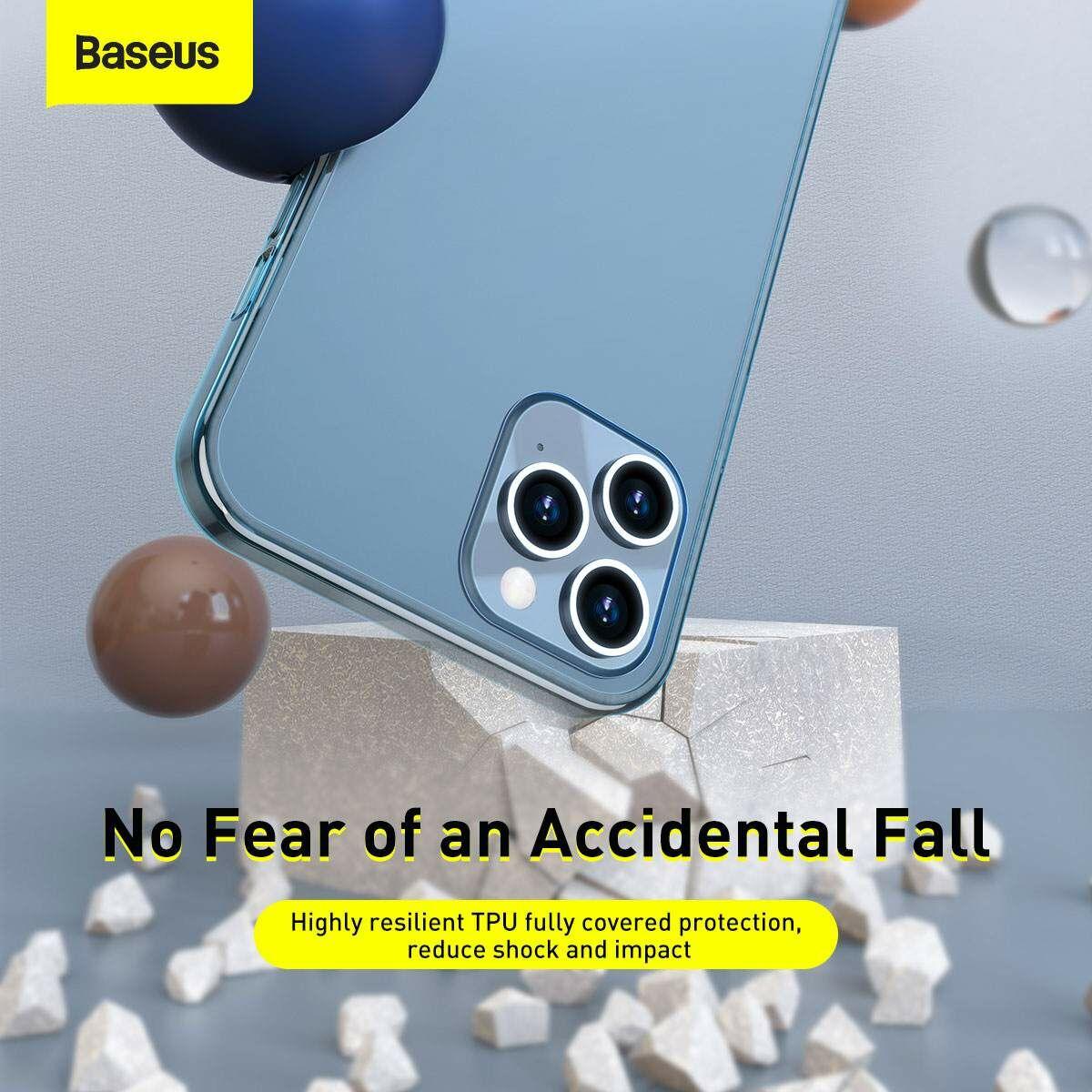 Baseus iPhone 12/12 Pro tok, Frosted Glass, sötétkék (WIAPIPH61P-WS03)