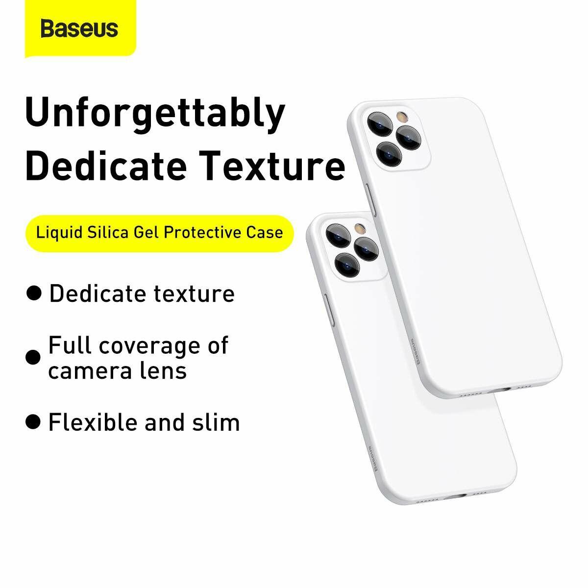 Baseus iPhone 12/12 Pro tok, Liquid Sicila Gel, fekete (WIAPIPH61P-YT01)