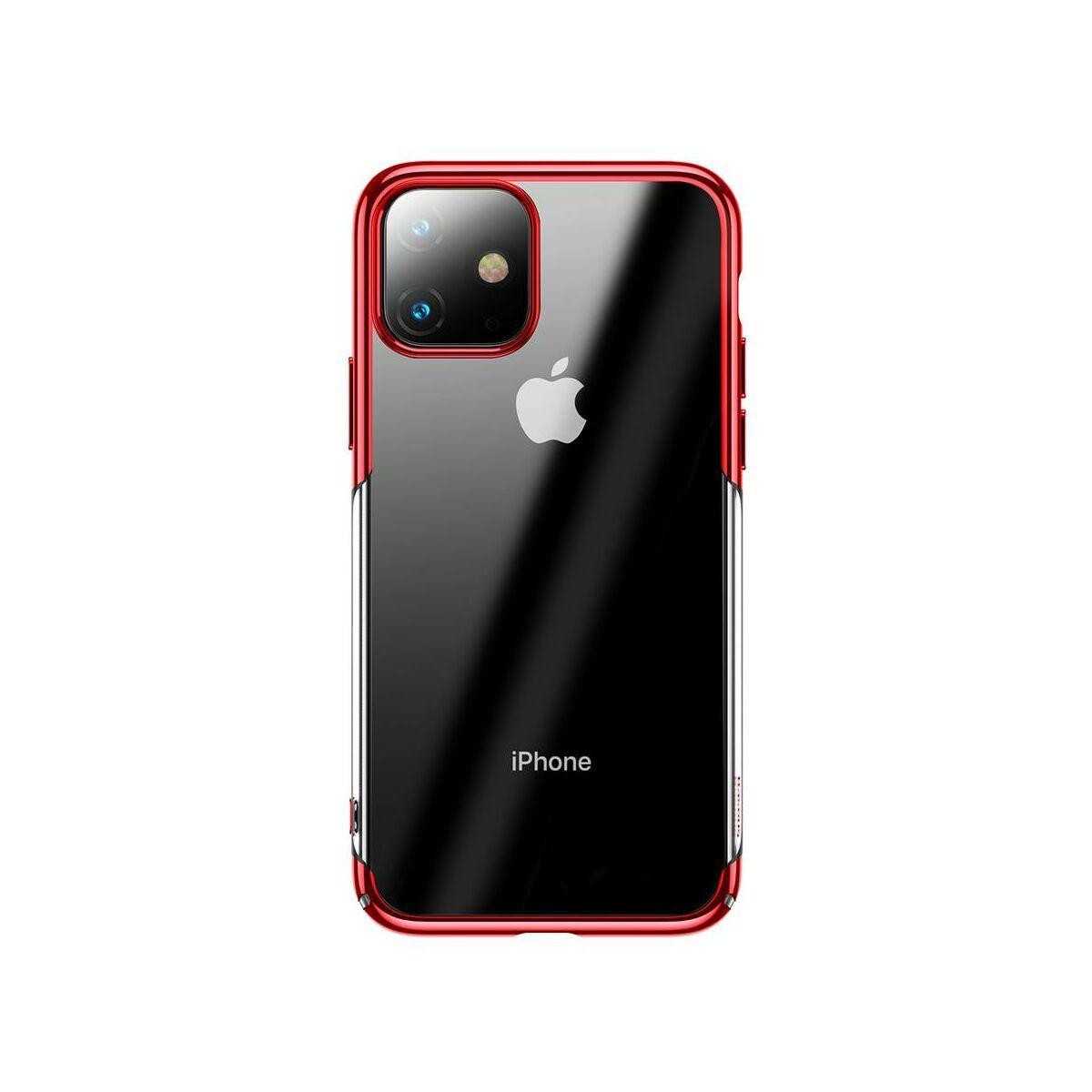 Baseus iPhone 11 tok, Glitter, piros (WIAPIPH61S-DW09)