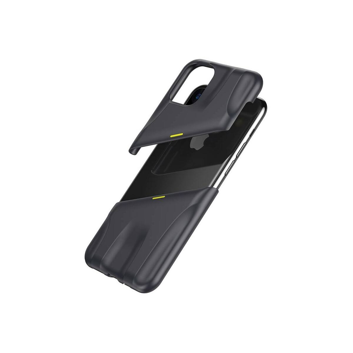 Baseus iPhone 11 tok, Lets go Airflow Cooling, szürke/citrom (WIAPIPH61S-GMGY)