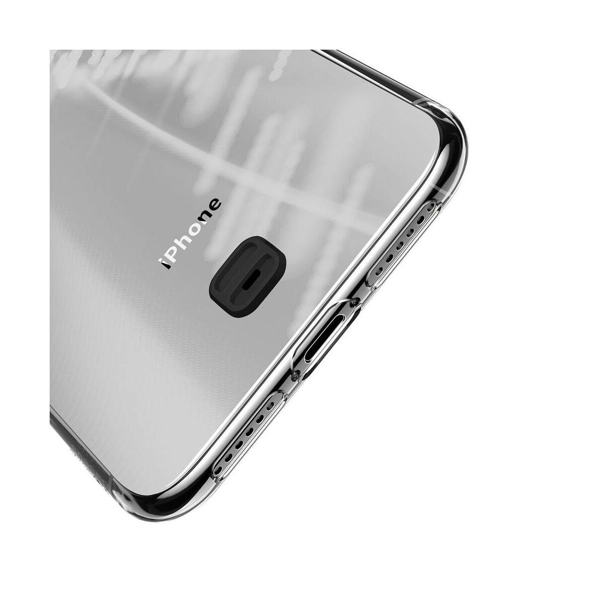 Baseus iPhone 11 tok, átlátszó Key Phone, átlátszó fekete (WIAPIPH61S-QA01)