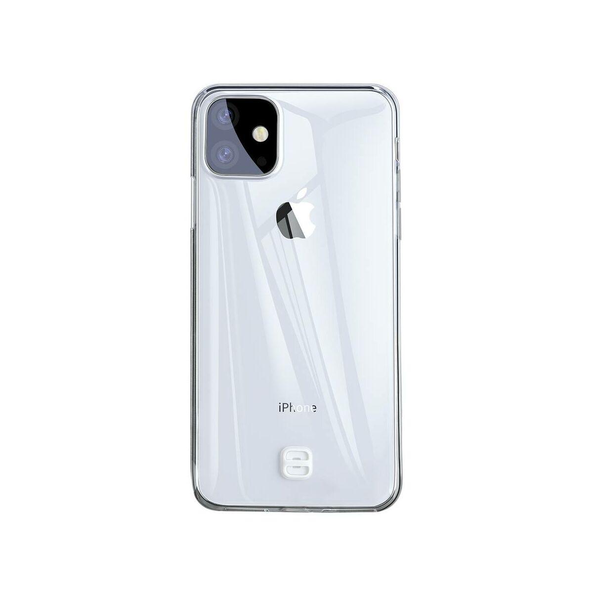 Baseus iPhone 11 tok, átlátszó Key Phone, átlátszó (WIAPIPH61S-QA02)