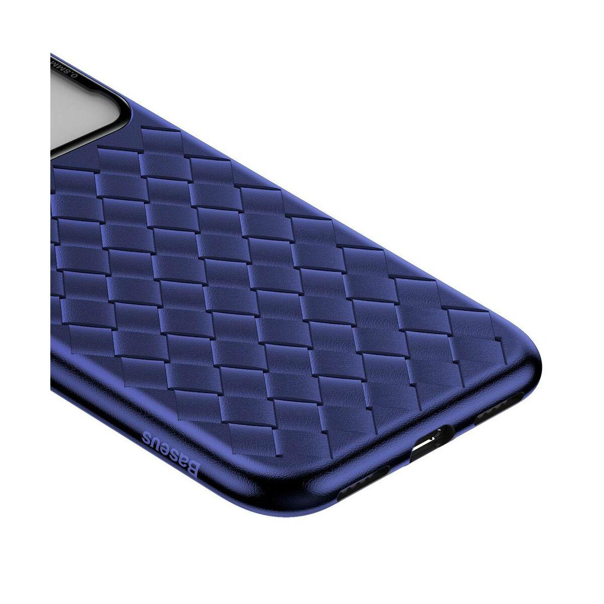 Baseus iPhone XS Max üveg & tok, BV Weaving, kék (WIAPIPH65-BL03)
