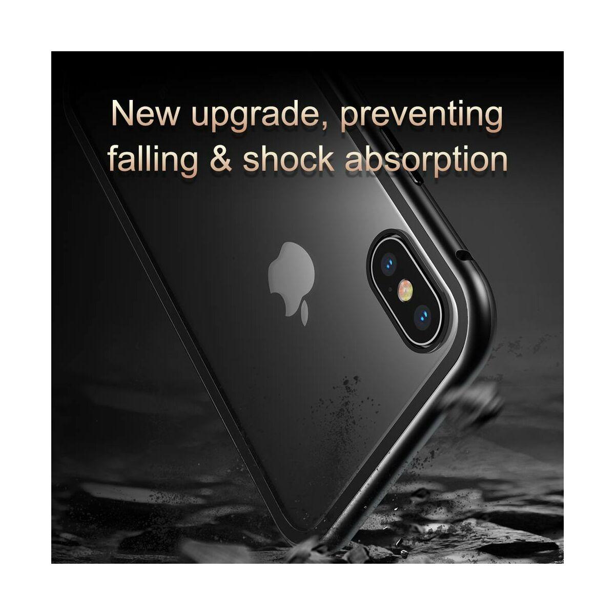 Baseus iPhone XS Max tok, Magnetite hardware, mágneses, fekete (WIAPIPH65-CS01)