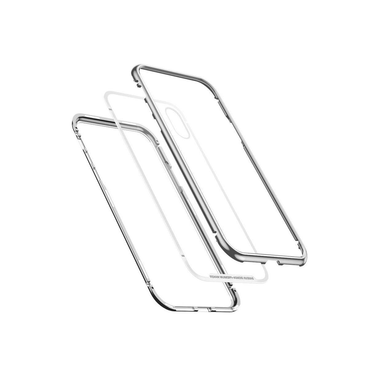 Baseus iPhone XS Max tok, Magnetite hardware, mágneses, ezüst (WIAPIPH65-CS0S)