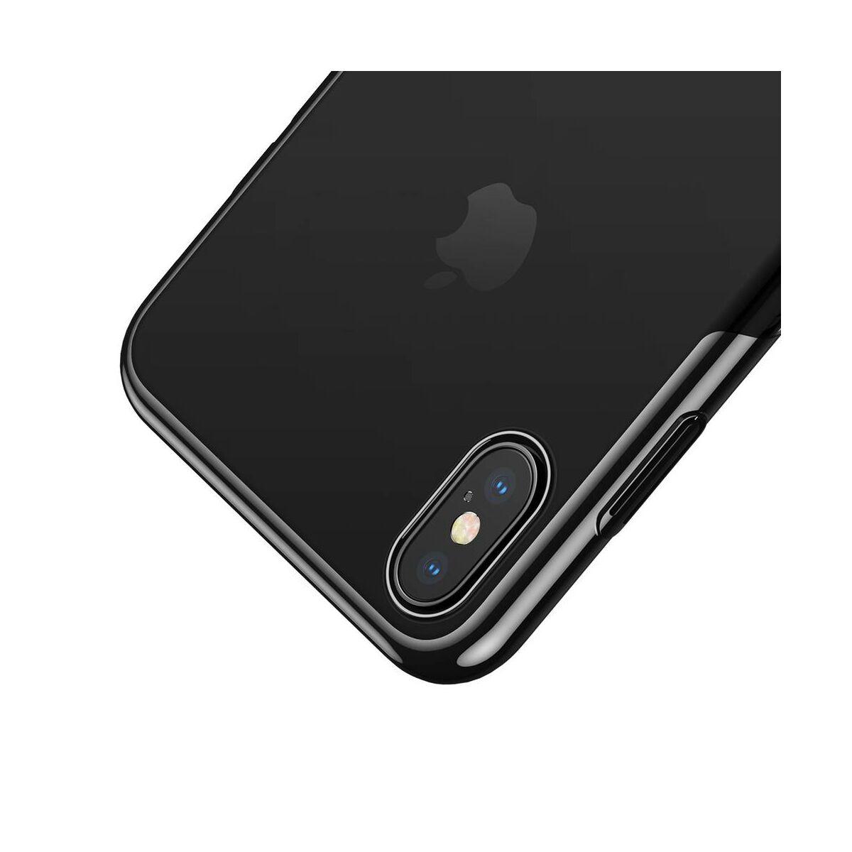 Baseus iPhone XS Max tok, Glitter, fekete (WIAPIPH65-DW01)