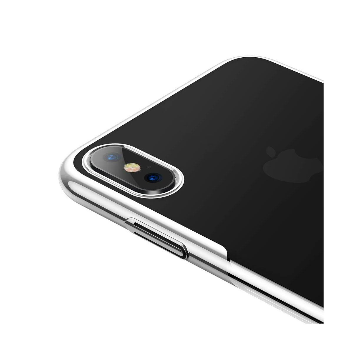 Baseus iPhone XS Max tok, Glitter, fehér (WIAPIPH65-DW02)