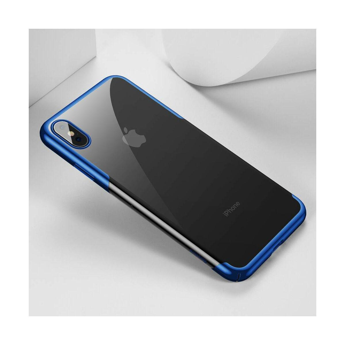 Baseus iPhone XS Max tok, Glitter, kék (WIAPIPH65-DW03)