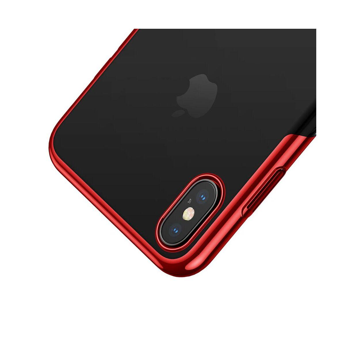 Baseus iPhone XS Max tok, Glitter, piros (WIAPIPH65-DW09)