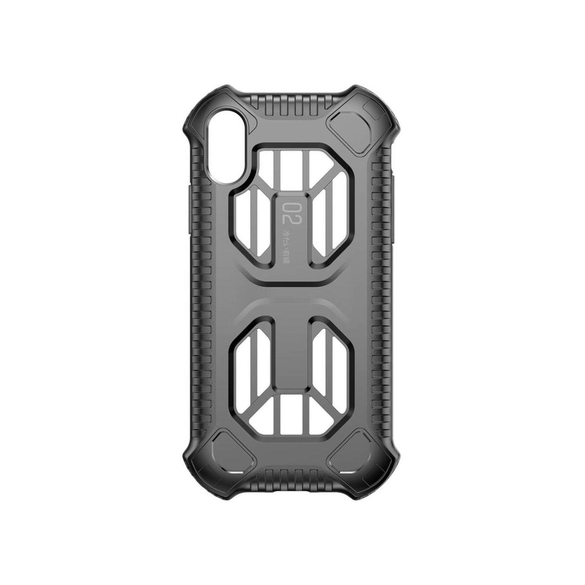Baseus iPhone XS Max tok, Michelin védőburkolat, fekete (WIAPIPH65-LF01)