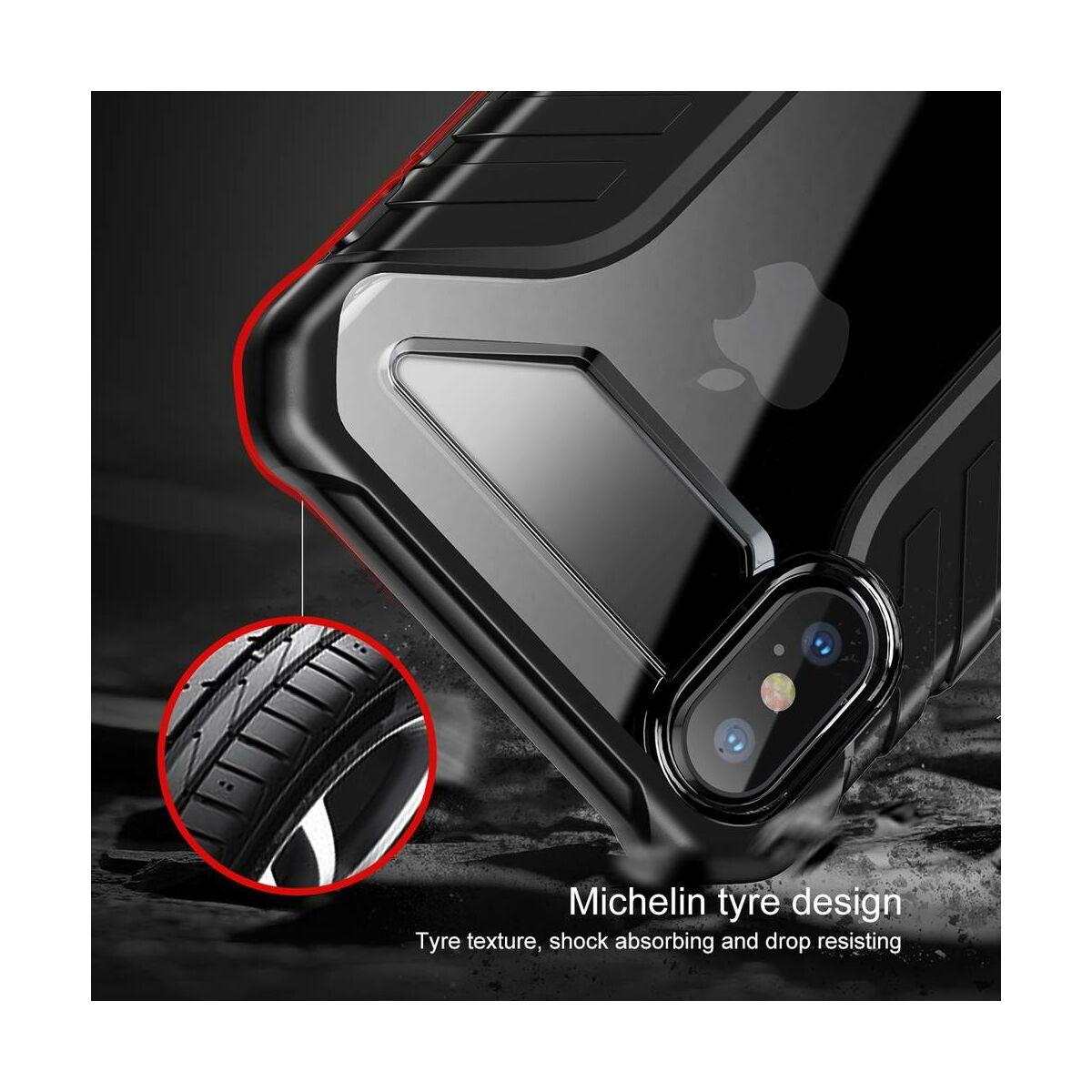 Baseus iPhone XS Max tok, Michelin, fekete (WIAPIPH65-MK01)