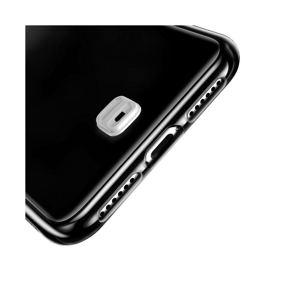 Baseus iPhone XS Max tok, átlátszó Key Phone ráfűzhető csuklótartóval, átlátszó (WIAPIPH65-QA02)