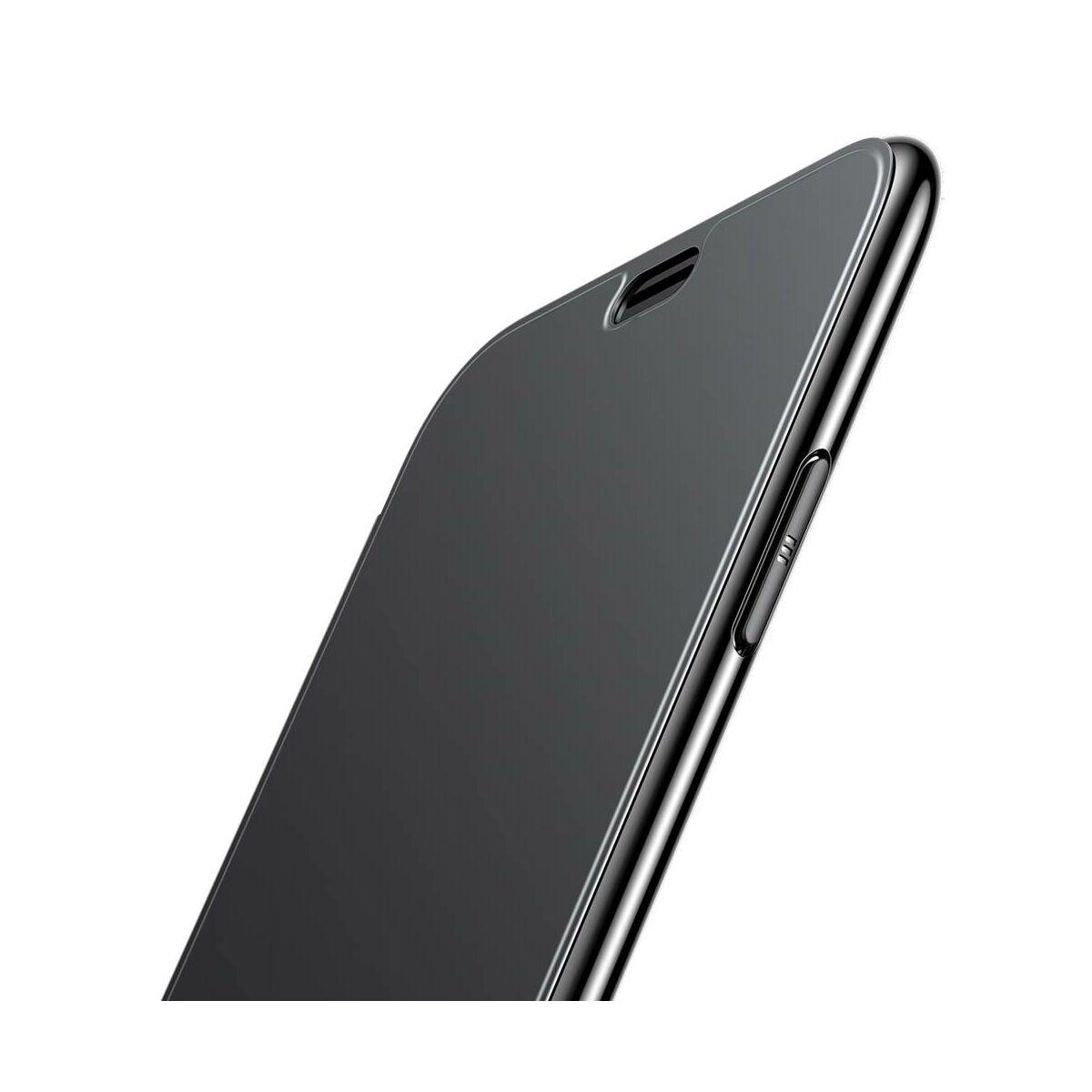 Baseus iPhone XS Max tok, Touchable kihajtható, érintőfelületű flip tok, fekete (WIAPIPH65-TS01)