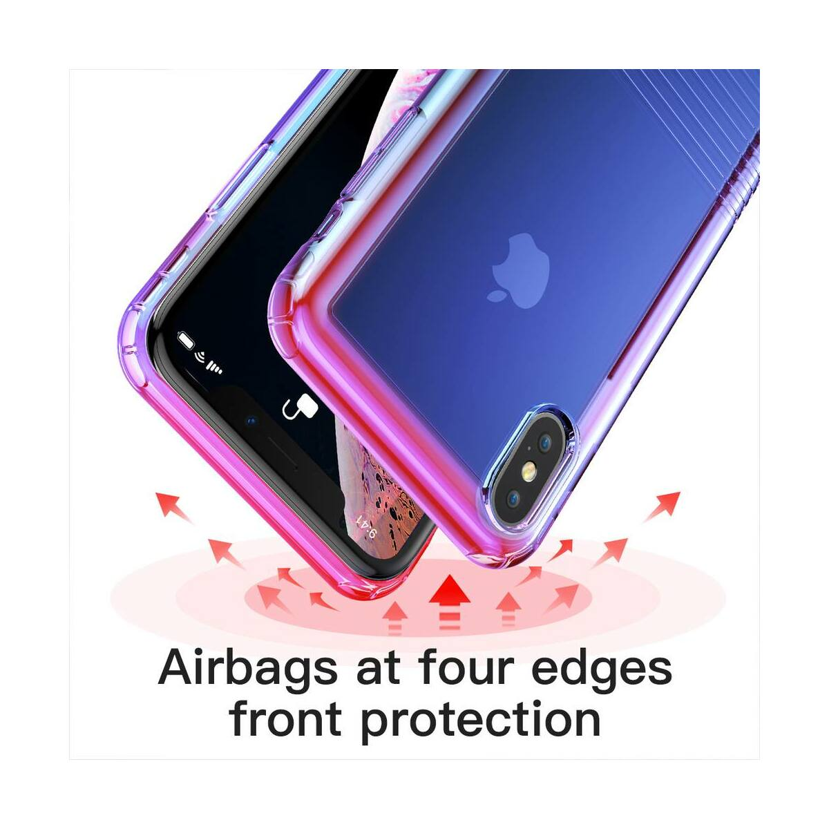 Baseus iPhone XS Max tok, Colorful Airbag, fekete (WIAPIPH65-XC01)