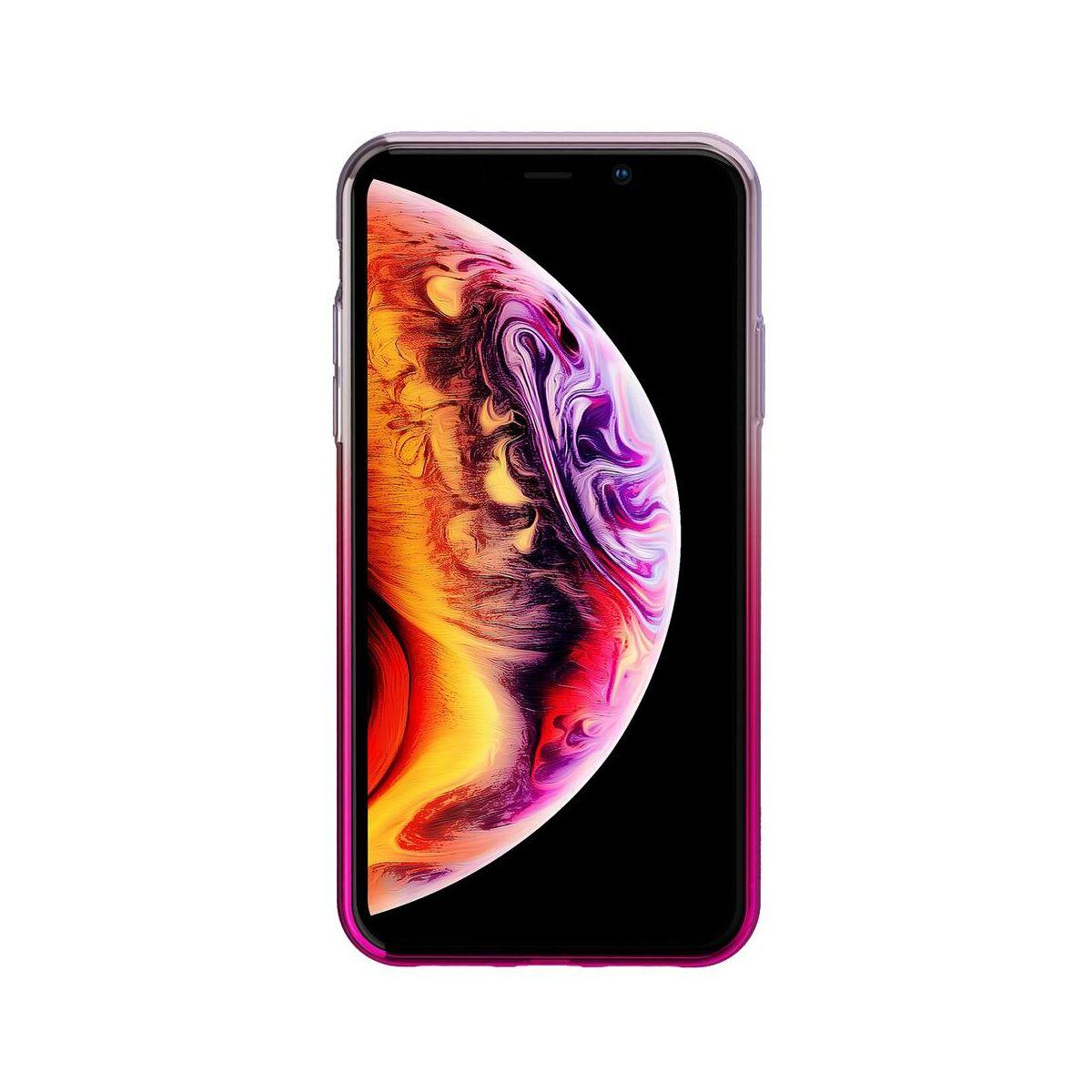 Baseus iPhone XS Max tok, Glow, átlátszó rózsaszín (WIAPIPH65-XG04)