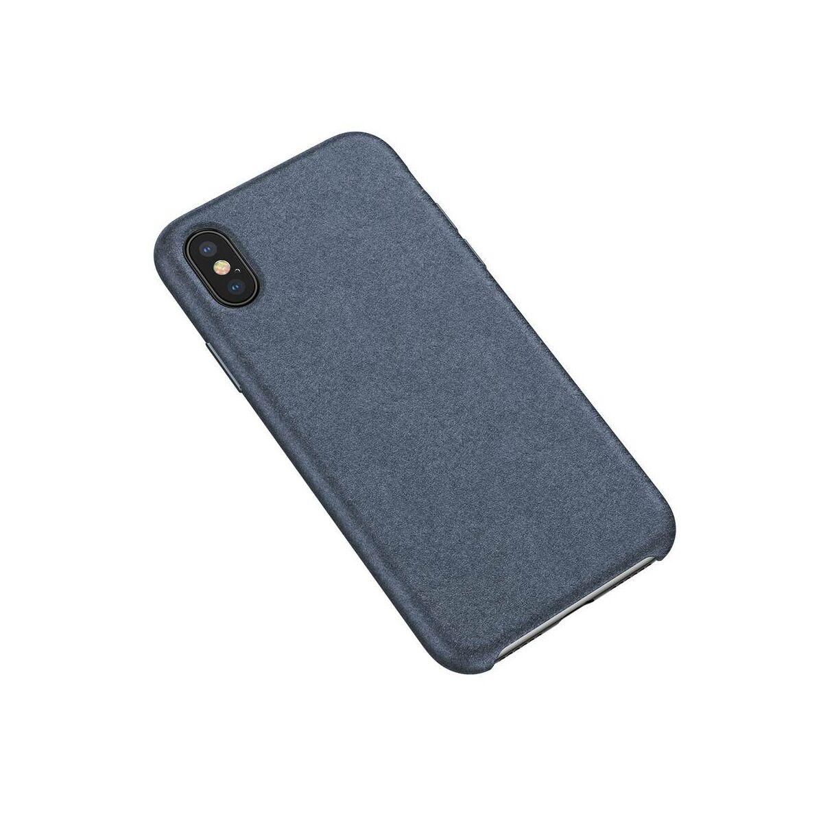 Baseus iPhone XS Max tok, Original Super Fiber, csúszásmentes, kék (WIAPIPH65-YP03)