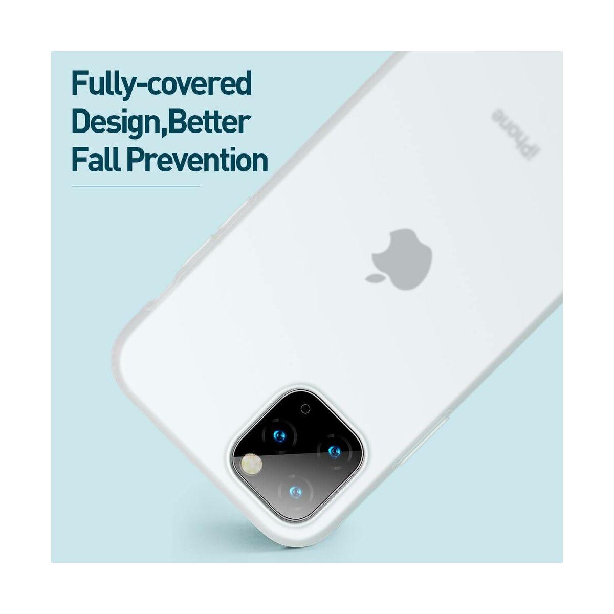 Baseus iPhone 11 Pro Max tok, Jelly Liquid Silica Gel Protective, átlátszó fehér (WIAPIPH65S-GD02)