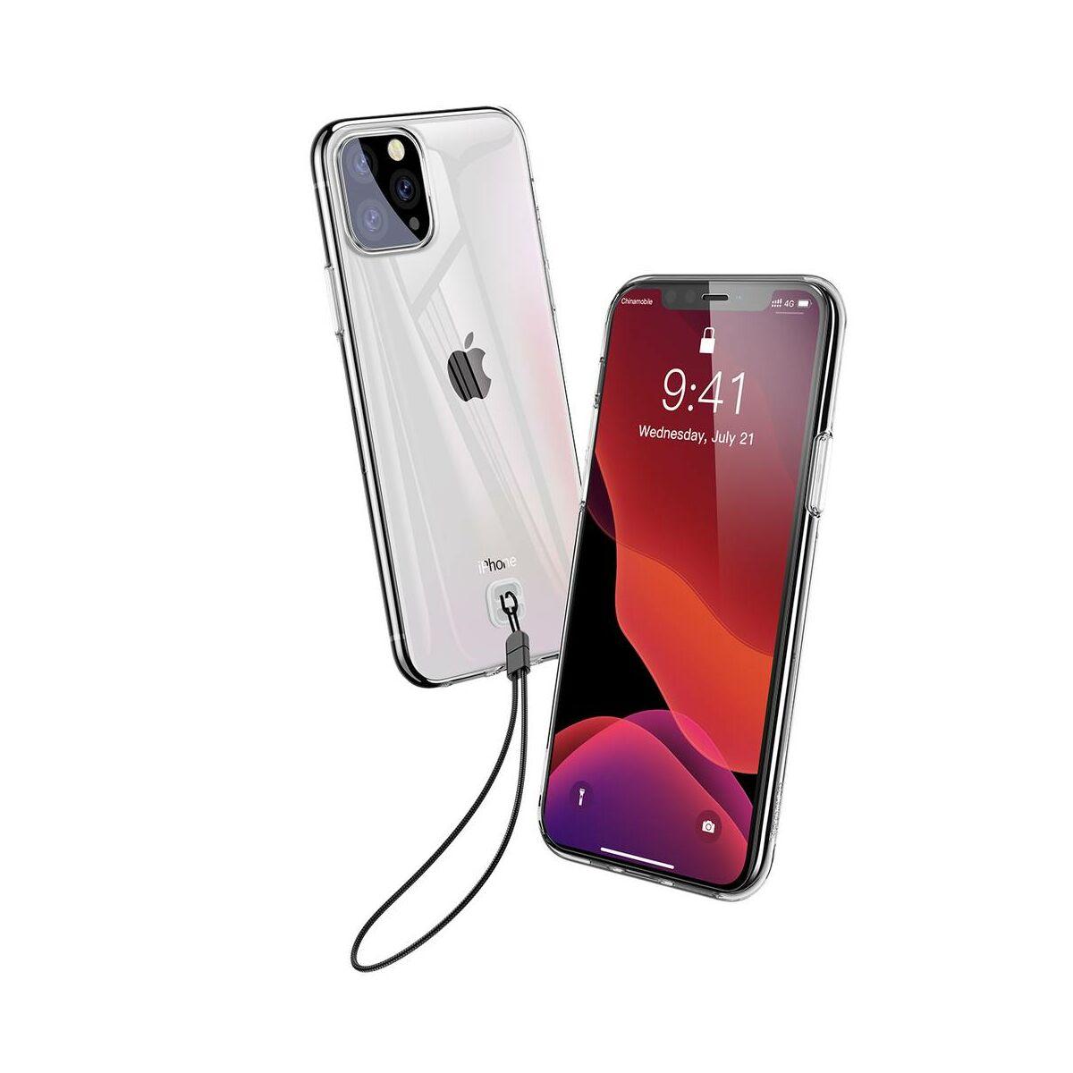 Baseus iPhone 11 Pro Max tok, Transparent Key Phone, átlátszó (WIAPIPH65S-QA02)